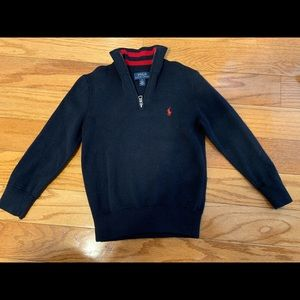 Polo pull over Zip turtle neck sweater